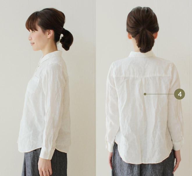 リトアニアリネンベーシックシャツ